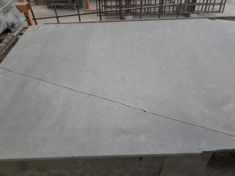 Inline repair of a broken marble slab